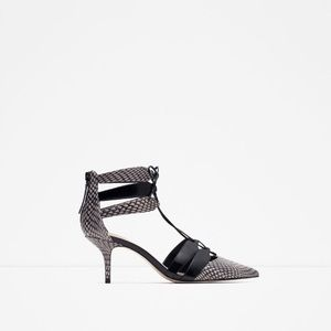 ZARA Snake Skin Grey Pumps
